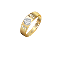 gold rings with stone design